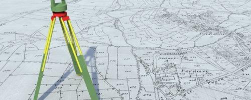 Mappa catastale con teodolite